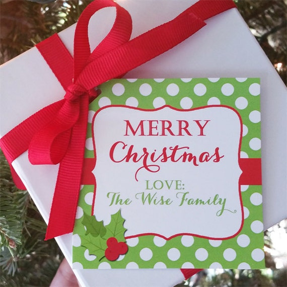 Personalized christmas gift tags printable or printed with free il570xn negle Image collections