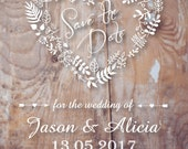 Rustic save the date magnets, CUSTOM LISTING, save the date invitation, rustic wedding invitation, love heart, rustic love heart invitation