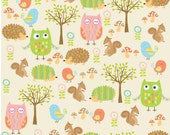 Owl and Company, Riley Blake Fabric, Owls Friends in Cream, 1 Yard