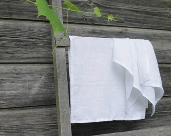 Linen Tea Towels.Set of 2. White. Size 70x40cm