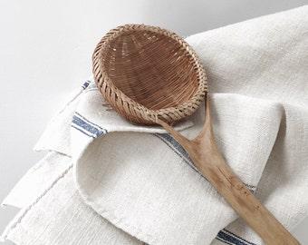 RESERVED Vintage Woven Colander Spoon