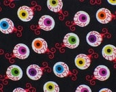 Halloween Fabric, Monster Eyes, Scary Eyes,  Bloodshot Eyes, By the Yard