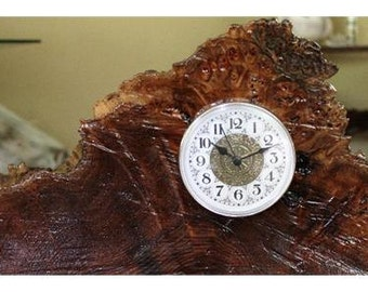 Custom Burl Wood Clock exotic wood
