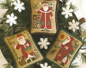 1990 1994 & 2005 Schooler Santas Revisted Book No. 195 : Prairie Schooler cross stitch Christmas Woodland Quilt Sunflower Santa Claus