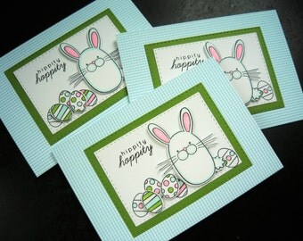 Easter Card, Easter Bunny Card, Funny Easter Card, Handmade Greeting Card