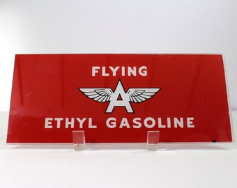 Flying A Glass Gas Sign
