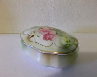 Vintage Boudoir Jewellery Dish Trinket Box Circa 1900s