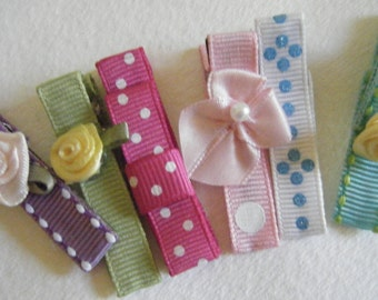 six assorted hair clips