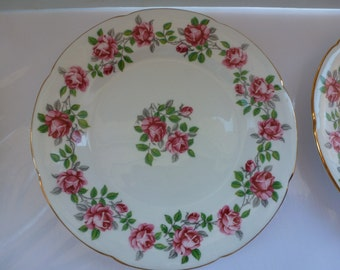 Vintage 6 Royal Grafton Bone China Plates Six China Dessert Plates Made in England Royal Grafton