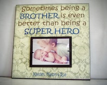 Big Brother Picture Frame, Being a Big Brother, 12x12 Custom Siblings Picture Frame, New Baby
