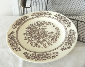 Shabby and Chippy Ironstone Plate