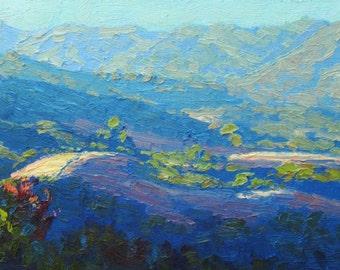 """Contemporary Plein Air Painting """"Musch Ranch Meadows"""", California"""