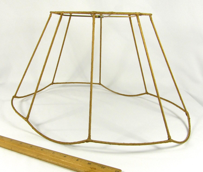 lamp shade frame fancy oval vintage for floor lamp large gold. Black Bedroom Furniture Sets. Home Design Ideas