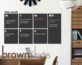 Modern Chalkboard Weekly Planner - SALE!!