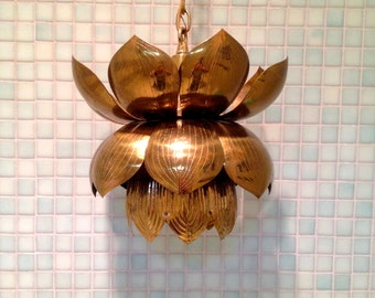 Vintage brass Lotus Light
