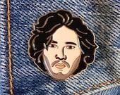 Jon Snow Pin, Soft Enamel Pin, Gift, Jewelry, Art (PIN21)