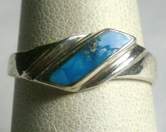 Sterling Silver Turquoise Ring-Size 7