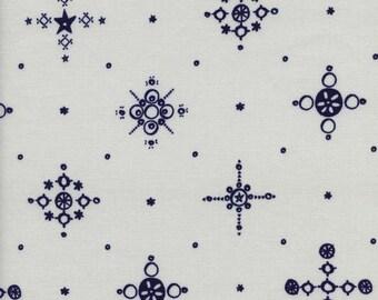 Clover Cafe Cup in Indigo, Alexia Marcelle Abegg, Cotton+Steel, RJR Fabrics, 100% Cotton Fabric, 4028-1