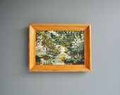 Vintage Framed Summer Scene Paint by Number