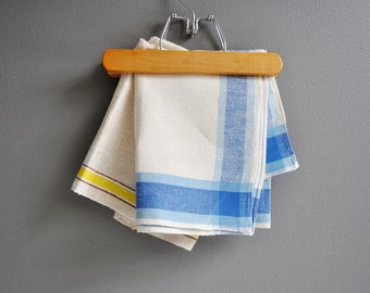 Pair of Vintage Linen Striped Tea Towels