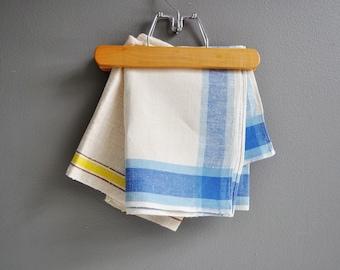 Pair of Vintage Linen Striped Tea Towels