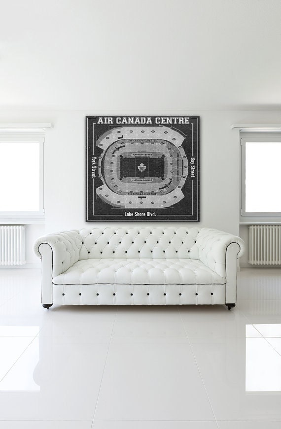 Print of maple leafs at air canada centre vintage for 12x15 calculator