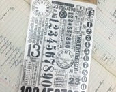 Rub-Ons by Tim Holtz Remnant Rub Numbers Two Sheets