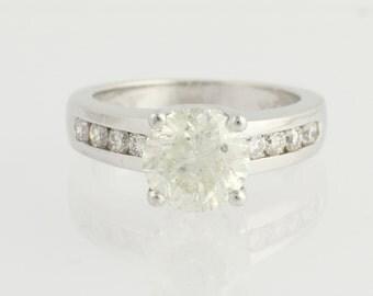 Diamond Engagement Ring - 14k White Gold Size 6 - 6 1/4 Genuine 3.01ctw Unique Engagement Ring L8215