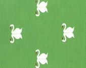 Sommer Swan in Grass by Sarah Jane for Michael Miller Fabrics