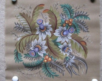 Gobelin Floral Needlepoint/Tapestry Canvas