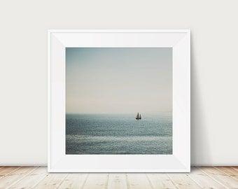 sail boat photograph ocean photograph nautical decor sail boat print ocean print minimalist decor nautical photograph mediterranean