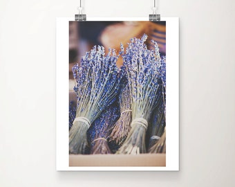 lavender photograph French market photograph French decor lavender print purple flower print France photograph