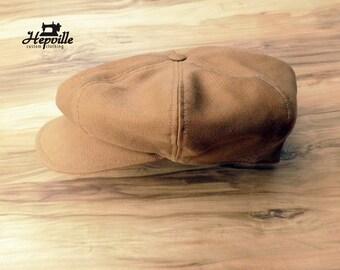 Newsboy Cap - Cotton Gabardine - Cappuccino