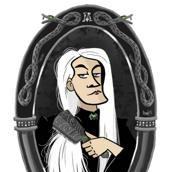 Lucius Malfoy gets ready for his date with the Dark Lord - Print, Art Print, Harry Potter