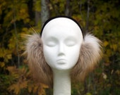 Pearl Gold Fox Fur Earmuffs P-009