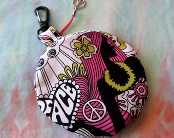 Coin Zipper Pouch with D Ring