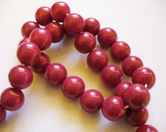 Glass  Beads Mulberry Round 10MM