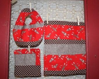 Sock Monkey baby gift set, Unisex, burp rag, bib,washcloth. ready to ship.Custom baby shower gift