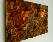 Rustic Wood wall Art, SALE wood wall sculpture, abstract wood art