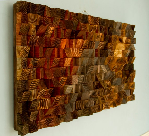 Rustic wood wall art wood wall sculpture by artglamoursligo for Wall artwork paintings