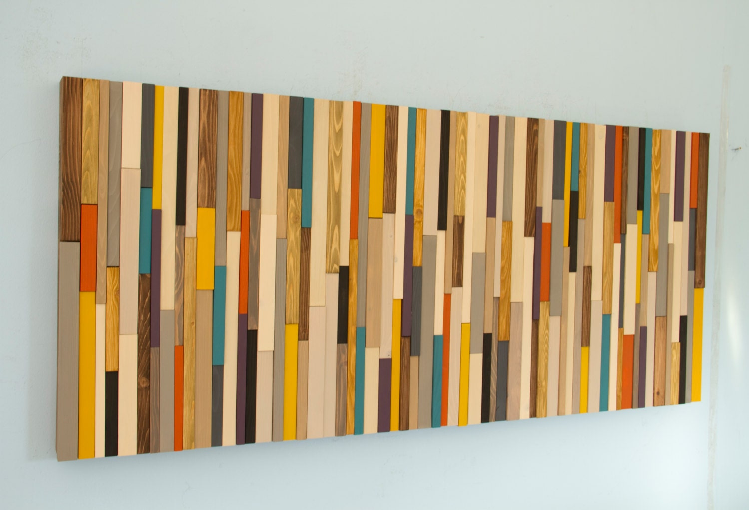 mid century wall art reclaimed wood art sculpture. Black Bedroom Furniture Sets. Home Design Ideas