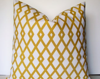 Robert Allen Pillow Yellow Geometric Pillow Gold Geometric Pillow Citrine BOTH SIDES