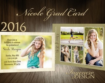 Graduation Party Invitations, Graduation Invitation Templates, Graduation Invites, Graduation Announcement, Senior Announcements, Nicole2016