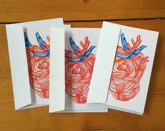 Corazón Greeting cards, Set of THREE FOLDED CARDS