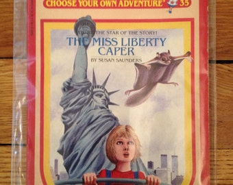 1980s Choose Your Own Adventure #35 The Miss Liberty Caper