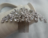 Silver Bridal Hair Comb, Wedding, Accessories, Crystal Hair Comb, Crystal Headpiece