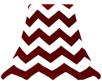 Wine Chevron- Custom Slip Cover for Lamp Shades - fits perfectly