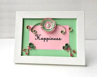 Text Art, Framed Text, Quilled Art, Home Decor