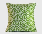 Grass Green geometric decorative pillow cover cushion cover. 1 covers for 20x20 insert. Sofa pillow spring decor nursery pillow window seat