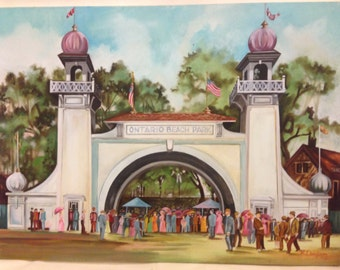 "30"" x 40"" Original Oil on Canvas--Ontario Beach Park circa 1900 by Ron Quagliata"